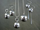 Domed Circle Necklaces and Earrings